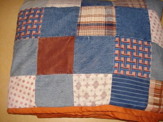 Quilt Denim Flannel Corduroy Mans Quilt Ralph Lauren Feel Boys