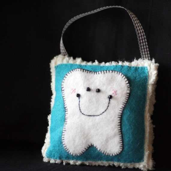 Tooth Fairy Pillow with Hanger - Turquoise Blue