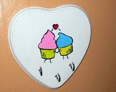 Cute Cupcakes Lovey Key or Necklace Rack