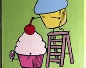 Teamwork Is Sweet - Cupcake Key or Necklace Rack