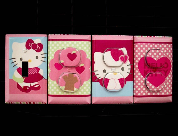 Light Switch Cover, Outlet Covers Hello Kitty Theme