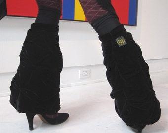 Black Cloud Dance Wear Leg Warmer