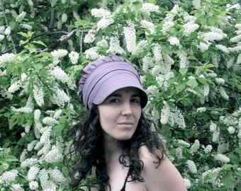 Linen Sun Bonnet Wrap Cap