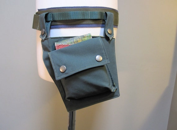 RESERVED for Kelly Single Pocket and Belt Stow All  in Green