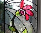 Stained Glass Agate Flower Window