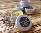 Lavender Cocoa Lip Balm /// Made with Raw Organic Cocoa Butter /// 1/2 oz tin canister
