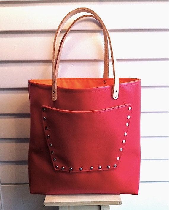 Leather and Vinyl Market Tote