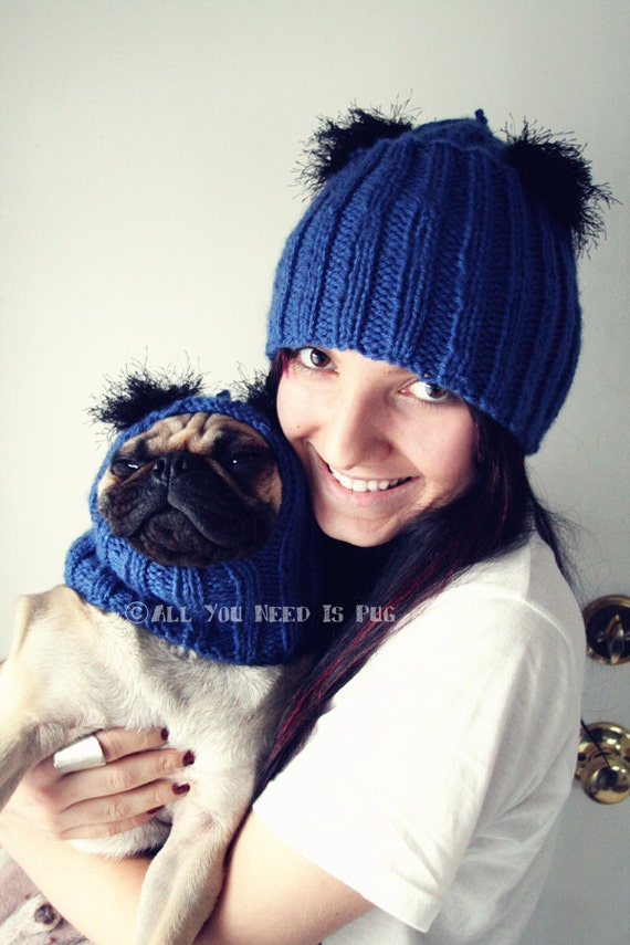 RESERVED for Cristen - Matching Dog and Human Hat Set