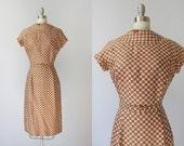 1960s Dress / 60s Wiggle Dress / Silk Dress / Malt Ball Heaven