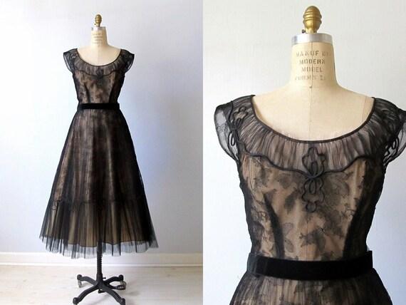 vintage 1950s Seymour Jacobson Designer Dress Medium