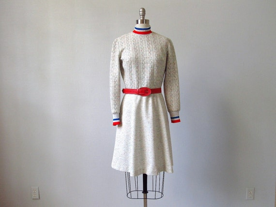 1960s Dress /  Mod Sweatshirt Dress  /  Candy Chips