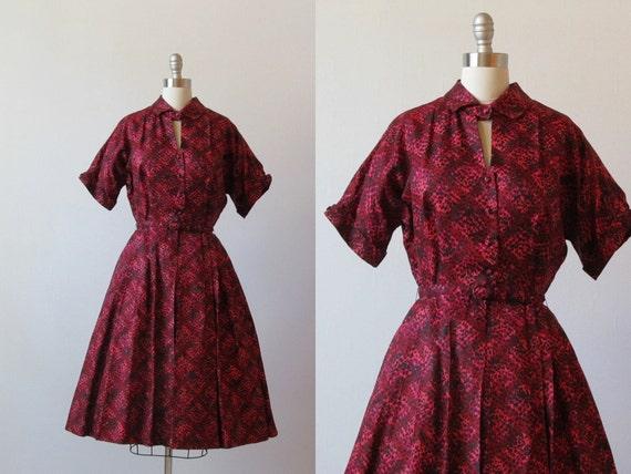 Vintage 1950s Dress / 50s Dress / Party Dress / Mad Men Dress