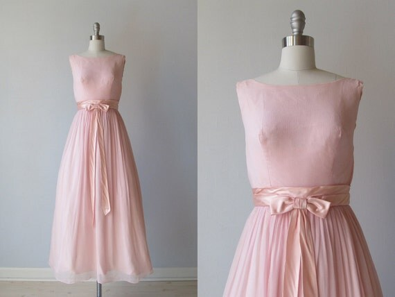 vintage 1960s Dress / 60s Bridesmaid Gown / by ...