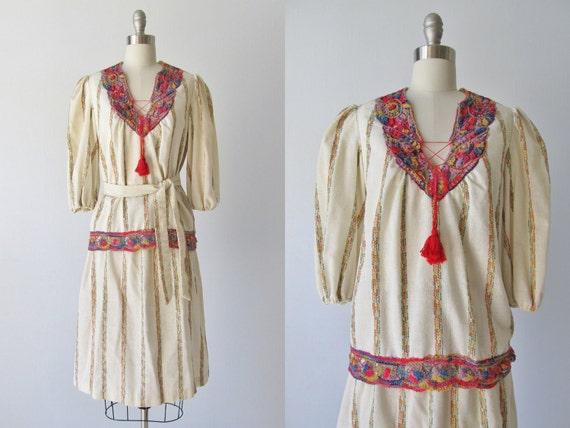 1970s Dress /  Bohemian Dress /  Skirt and Blouse Set / Free Spirit