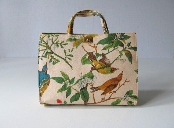 RESERVED Margaret Smith Handbag / Wild Bird Scene / Larger Tote