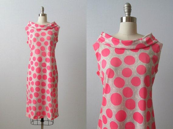 vintage 1960s Vera Neumann Dress / Sheath Dress / Asphalt Jungle / Vera Dress