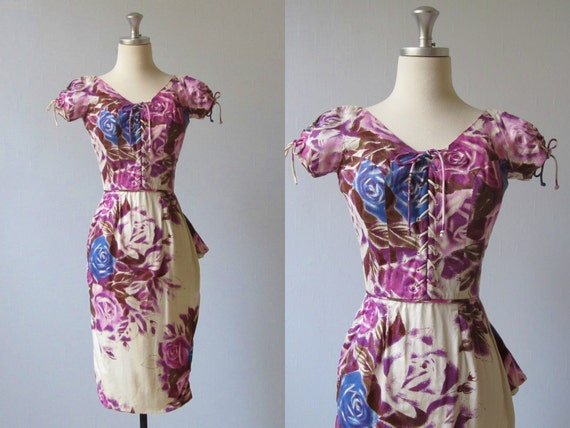 Ceil Chapman Dress / 1960s Wiggle Dress / Effortless Allure