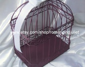 Eggplant Wedding Card Box Bird Cage Style..Any Color Available...