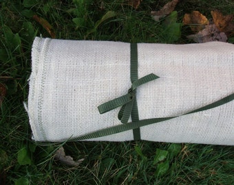 rustic earthy burlap wedding aisle runner60 feet by 47 inches wide