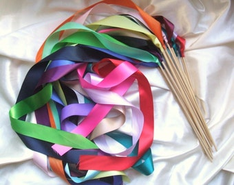 Instead of Rice Jumbo Ribbon Streamer Sticks..PACK OF 50...You choose the Ribbon Color..