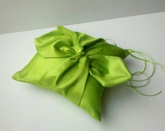 Knottie Ring Bearer Pillow...You Choose the Colors....Buy One Get One HALF OFF..shown in apple green/lime
