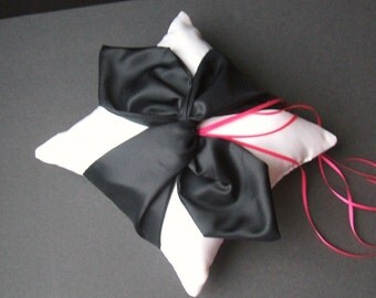 Knottie Ring Bearer Pillow...You Choose the Colors....Buy One Get One HALF OFF...shown in white/black
