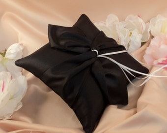 Knottie Ring Bearer Pillow...You Choose the Colors....Buy One Get One HALF OFF...shown in black/black