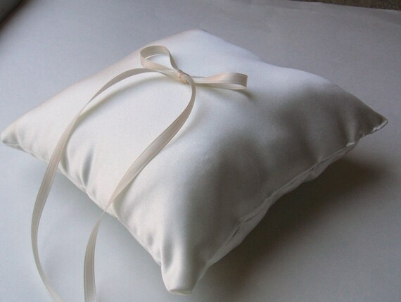 Simple Elegance Ring Bearer Pillow...You Choose Your Colors..Buy One Get One Half Off..shown in ivory/champagne