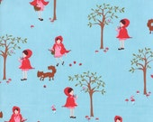 Walk in the Woods - Little Red in Blue Bell - SKU 18520 11  - by Aneela Hoey for Moda Fabrics - 1 Yard