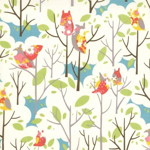 Its A Hoot - Novelty Hoots in Marshmallow - SKU 32373 11  -  by MoMo for Moda Fabrics    - 37 Inches - LAST PIECE