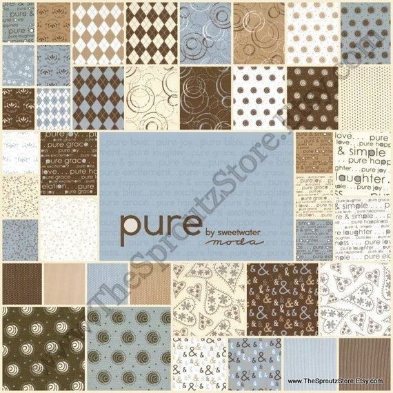 Pure by Sweetwater for Moda Fabrics - Charm Pack