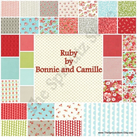 Ruby by Bonnie and Camille for Moda Fabrics - Charm Pack - SALE