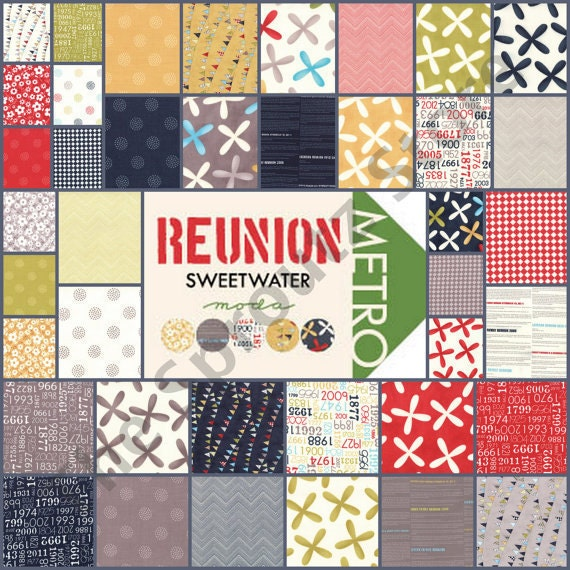 Reunion by Sweetwater for Moda Fabrics - ENTIRE COLLECTION - 40 Fat Quarter Bundle