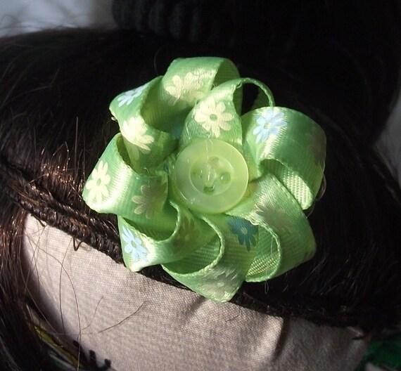 18inch Doll Green Hair Bow