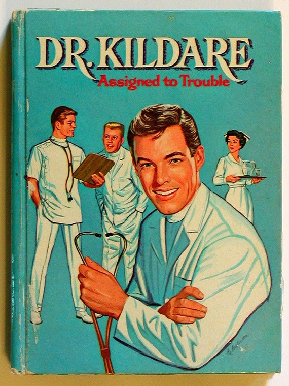 Vintage DR. KILDARE Book ASSIGNED TO TROUBLE Authorized TV Adventure