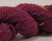 Merry Cherry - 110 yards hand spun Merino wool yarn with Firestar