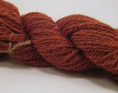Rusty Car - 95 yards hand spun Corriedale wool yarn with mohair and silk - orange - worsted