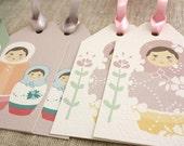 Set of 6 Gift Tags - Sweet Matryoshkas