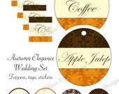 SALE- Autumn Elegance Wedding Printables- Personalized