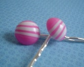 SALE - Candy Striper Bobby Pins