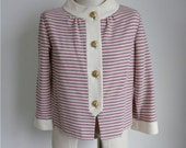 Vintage Striped Jacket, Red and Gold Jackie O Style