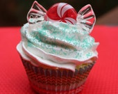 RESERVED- Peppermint Cupcake Ornament