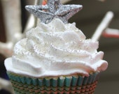 RESERVED- Star Cupcake Ornament