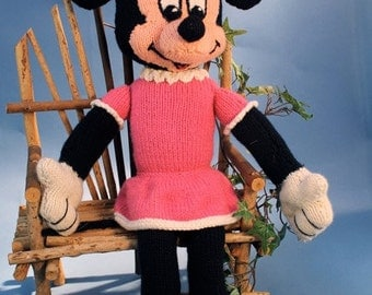 Luxembears knitted Minnie Mouse doll.