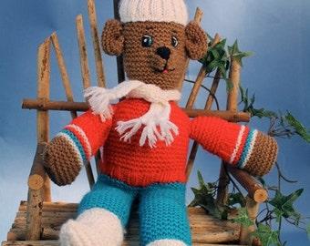 Luxembears Hand Knitted Floppy Teddy Bear