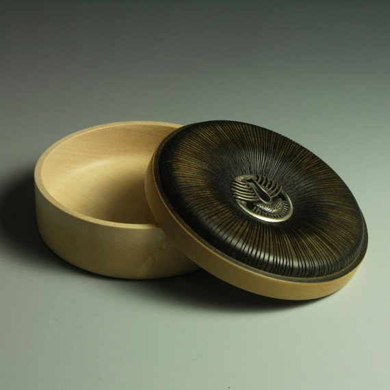 Diatom Box - made from sycamore and silver