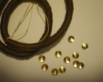 Vintage Strand 4mm Gold Cupped Sequins Pailettes