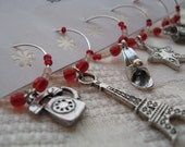 LIMITED Set - Parisian Nights - Wine Charms
