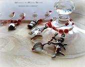 Parisian Nights  RED Set - Wine Charms
