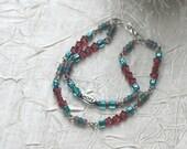 HOPE Bracelet, Teal and Lavender
